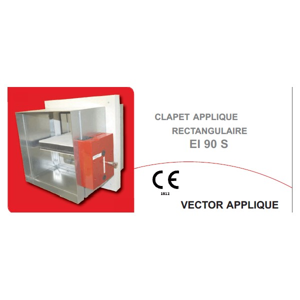 Klima riv 39 air clapet coupe feu vector applique - Installation clapet coupe feu ...